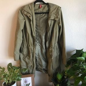 H&M Oversized Army Green Jacket